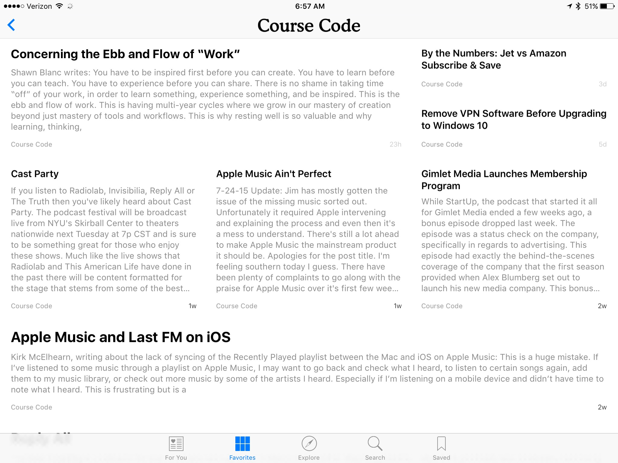 Course Code on Apple News